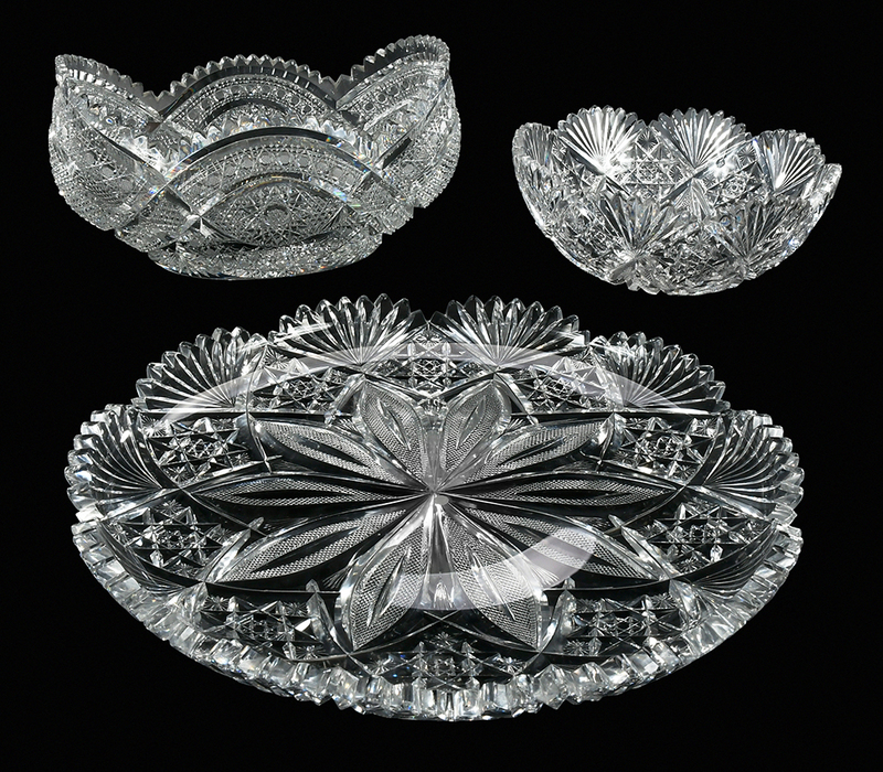 Brilliant Period Cut Glass Tableware