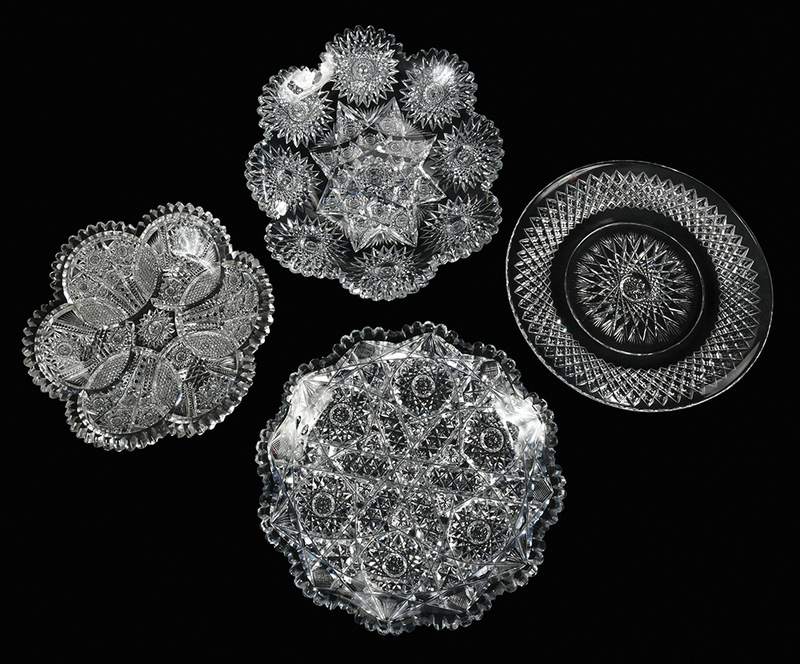 Brilliant Period Cut Glass Plates, Dishes
