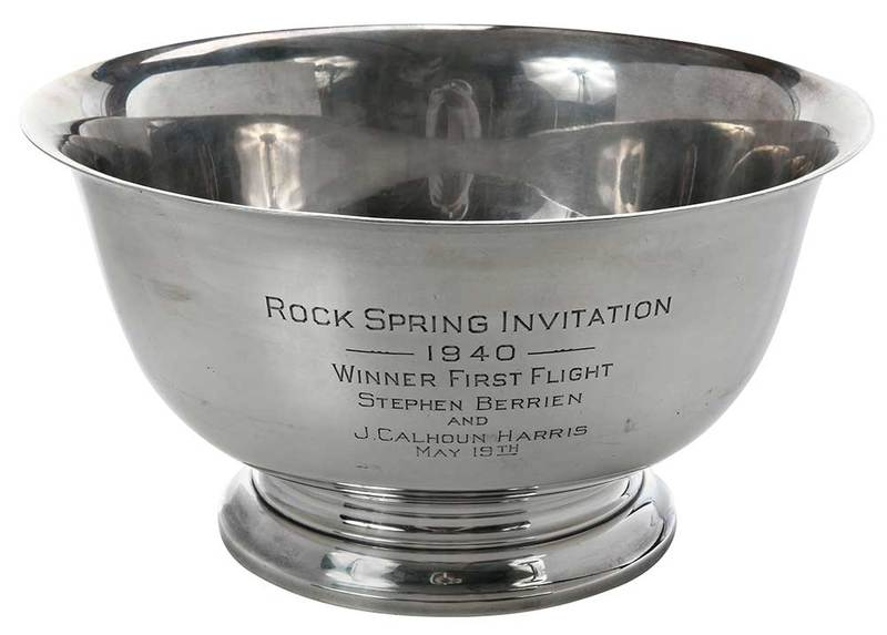 Large Sterling Revere Style Trophy Bowl