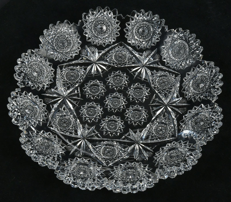 Hawkes American Brilliant Cut Glass Plate