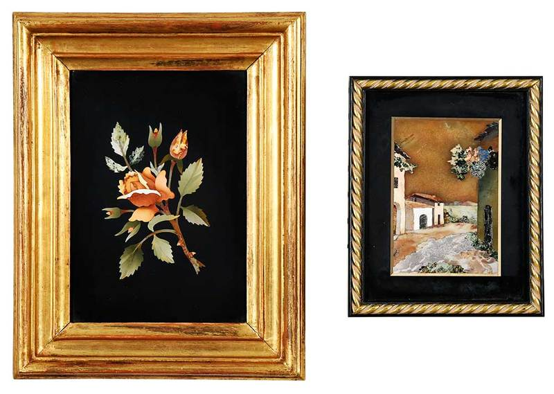 Two Framed Pietra Dura Plaques