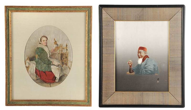 Two Silk Embroidered Pictures