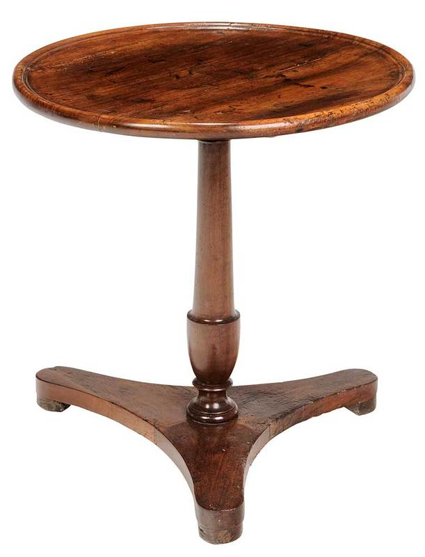 Continental Neoclassical Walnut Pedestal Table