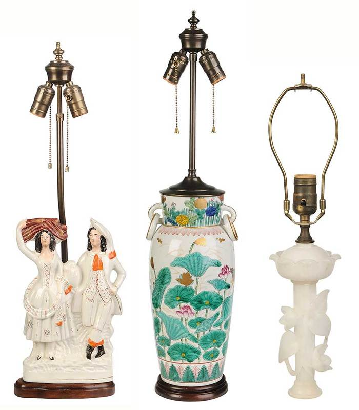 Three Decorative Table Lamps