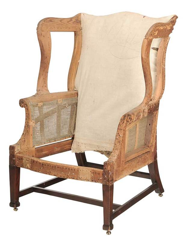 Rare Virginia Federal Mahogany Easy Chair