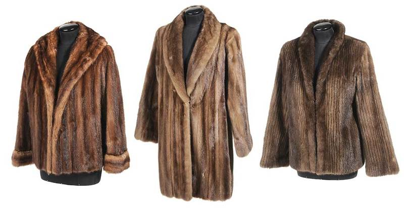 Three Mink Fur Jackets