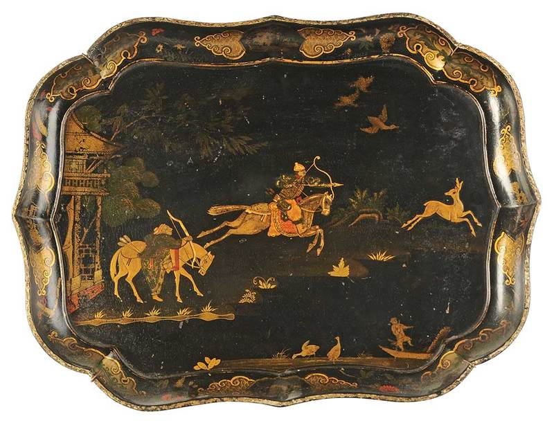 Chippendale Style Chinese Lacquer Tray