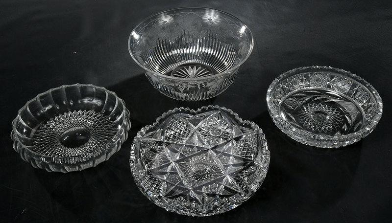 Four Brilliant Period Cut Glass Bowls