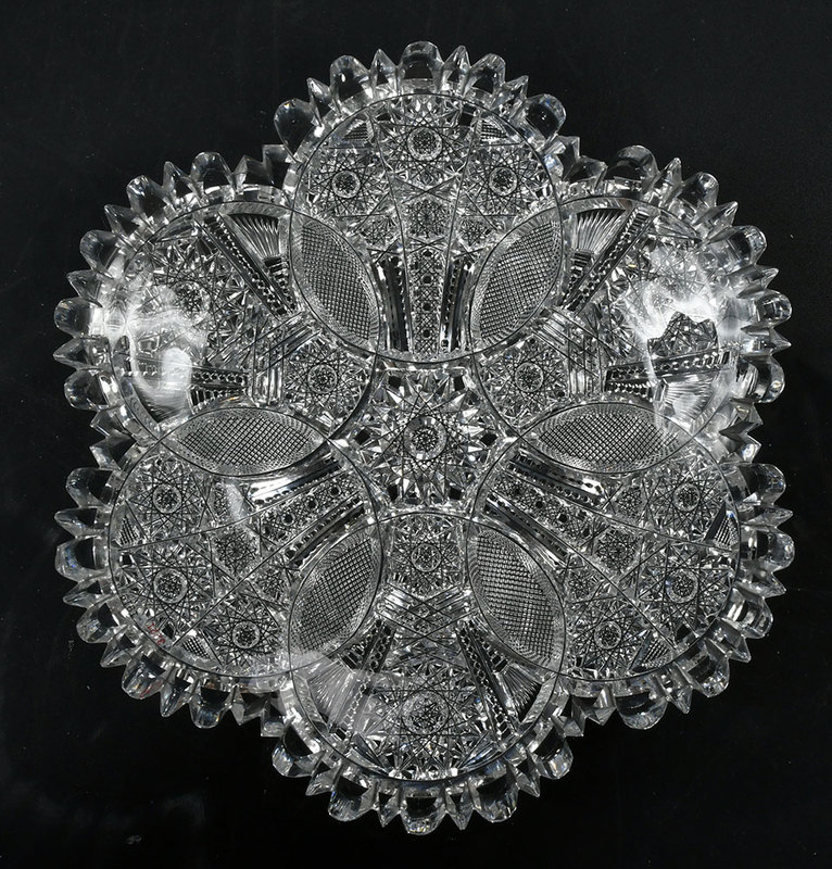 Brilliant Period Cut Glass Plate