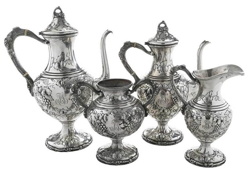 Four Piece Sterling Tea Service
