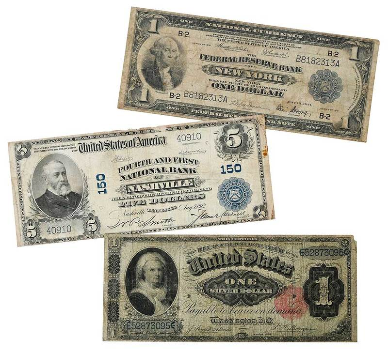 11 Assorted U.S. Oversized Notes