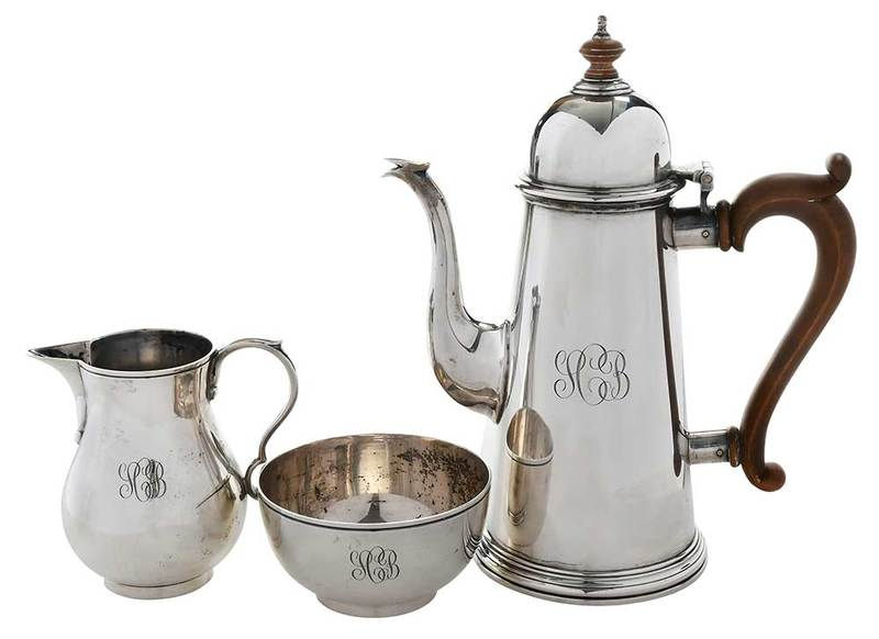 Three Piece English Silver Coffee Service