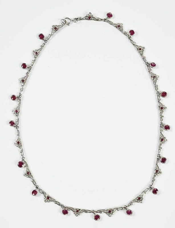 14kt. Ruby & Diamond Necklace