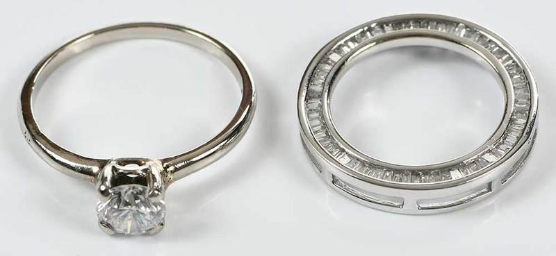 14kt. Diamond Ring & 10kt. Pendant