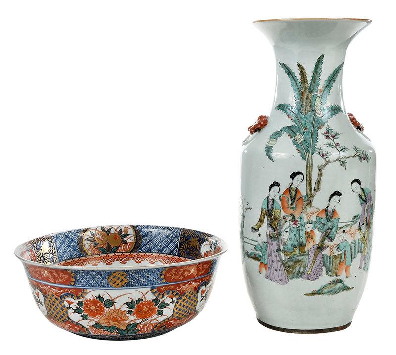 Imari Bowl and Chinese Porcelain Vase