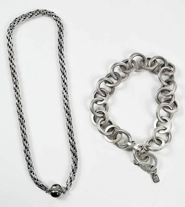 Two Heavy Sterling Silver Necklaces