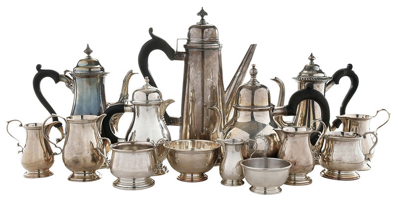 14 Sterling Tea and Related Items