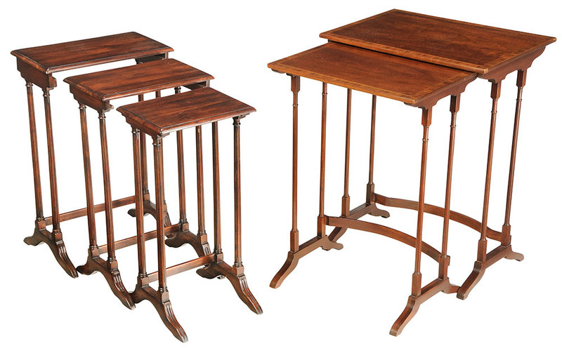 Two Sets Of Regency Style Nesting Tables