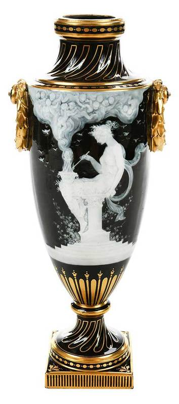 Albion Birks Mintons Pate-Sur-Pate Vase