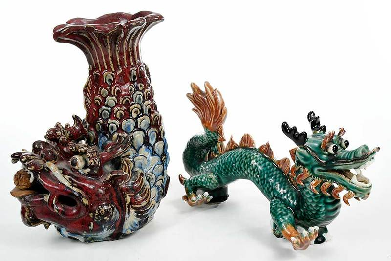 Two Chinese Figural Ceramics