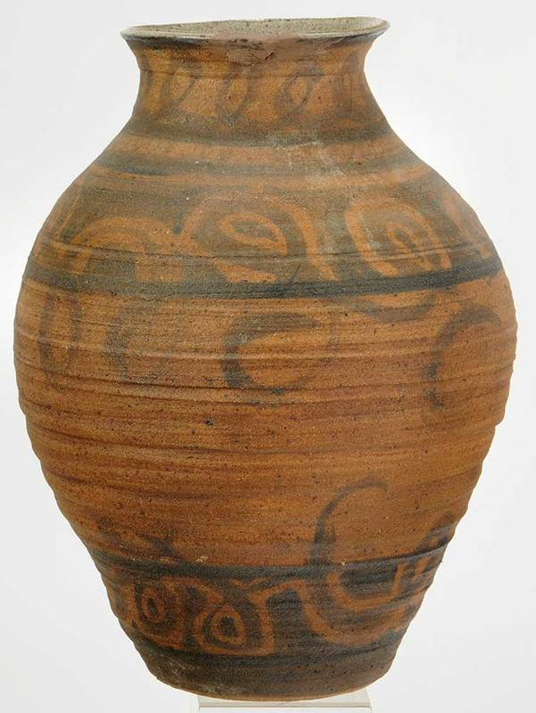 Large Studio Ceramic Swirl Decorated Vase