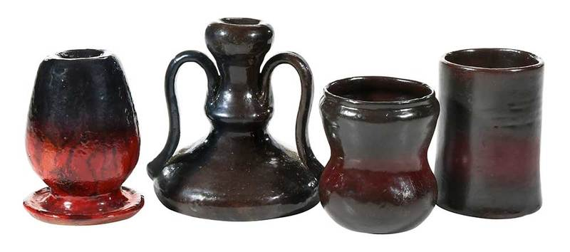 Four Pieces Of George Ohr Pottery