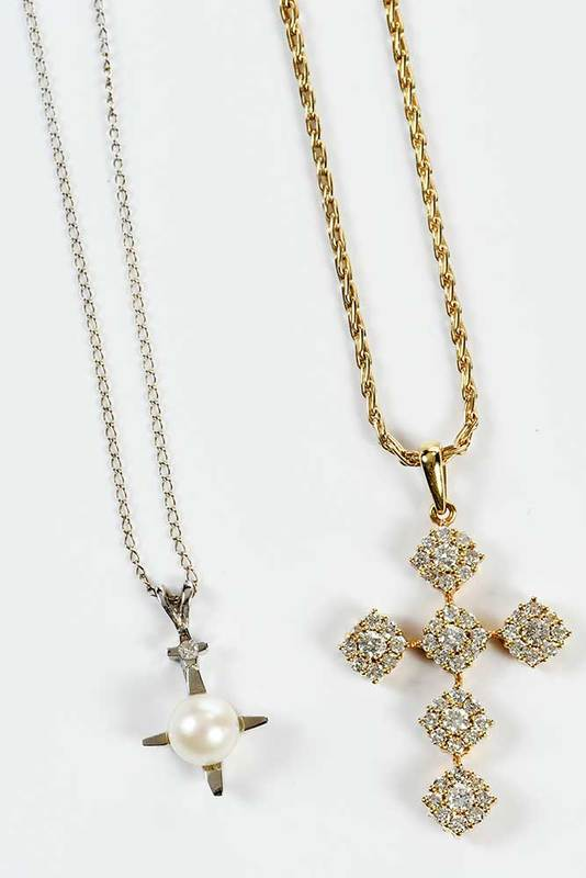 Two Gold and Diamond Necklaces