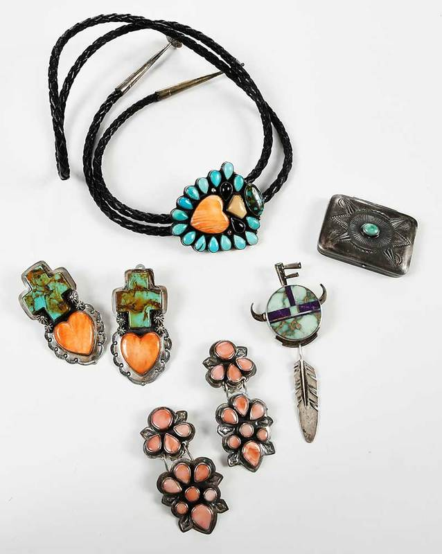 Five Pieces Southwestern Jewelry