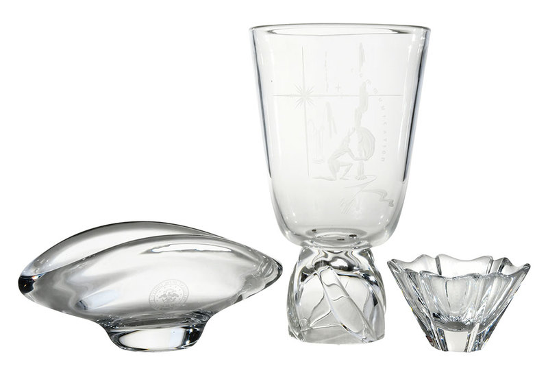 Group of Three Glassware Objects