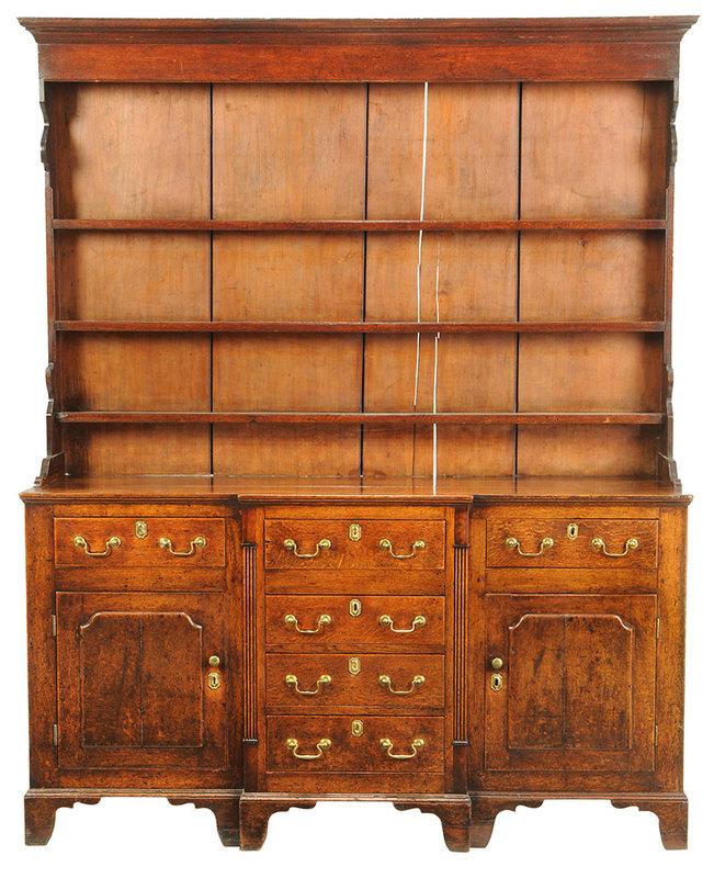 Early Welsh Oak Dresser and Rack