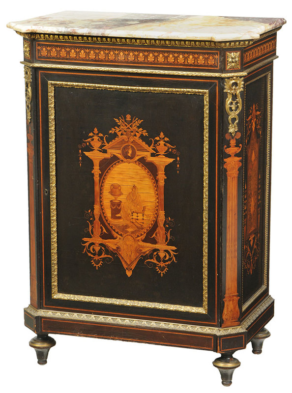 Fine Aesthetic Movement Inlaid Cabinet