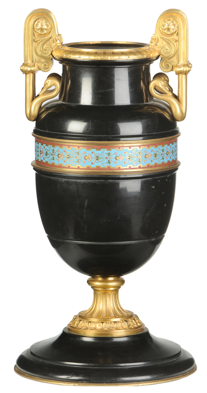 Russian Néo-Grec Marble and Ormolu Mounted Vase