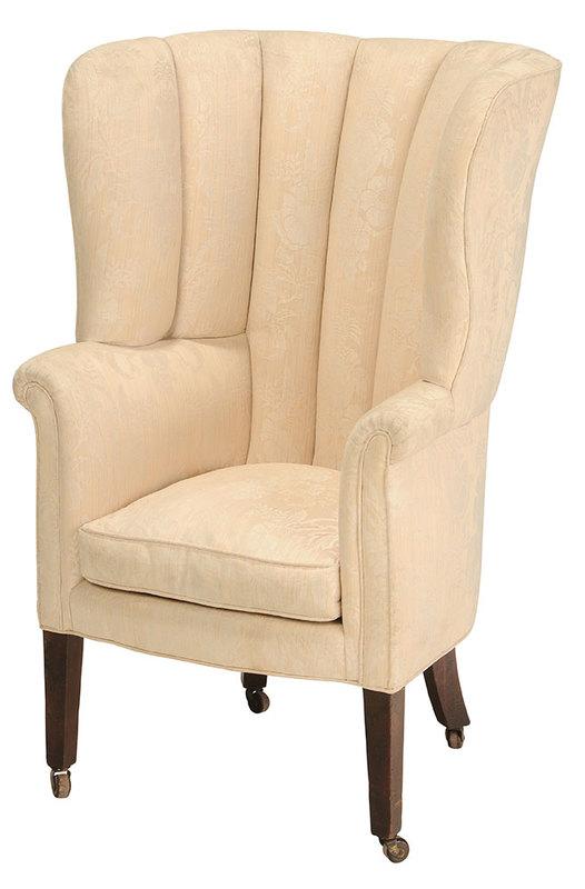 Federal Mahogany Barrel Back Easy Chair
