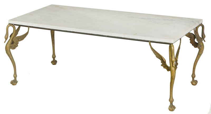 Empire Style Marble Top Coffee Table
