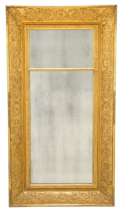 Empire Gilt Two-Part Pier Mirror