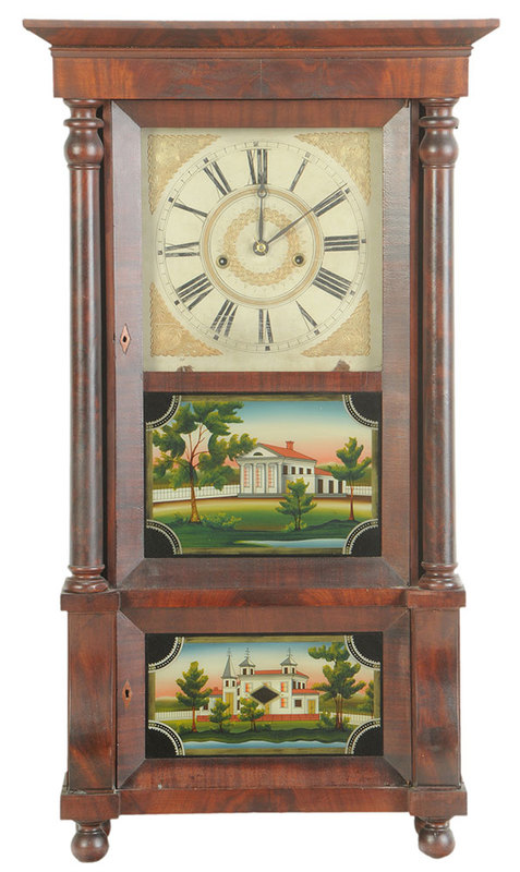 Forestville Verre Églomisé Mantle Clock