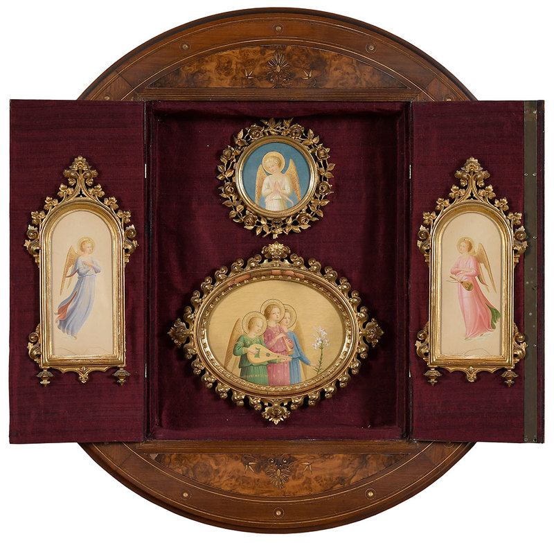 Four Florentine Paintings, Eastlake Cabinet