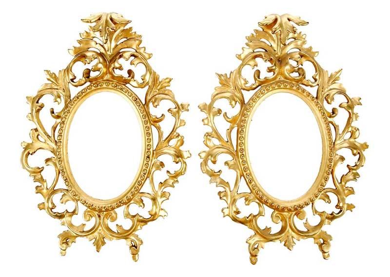 Pair of Florentine Gilt Wood Frames