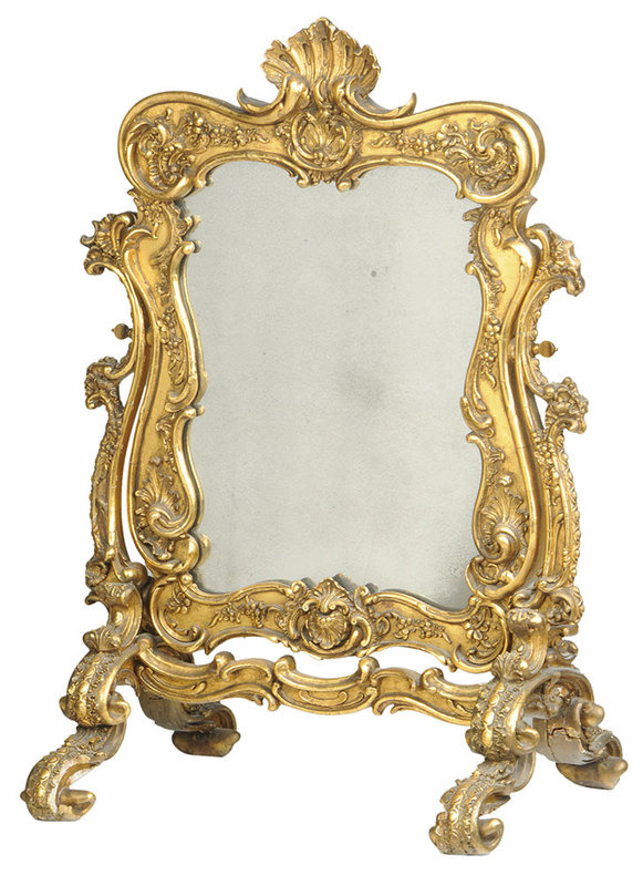 Baroque Style Gilt Cheval Mirror