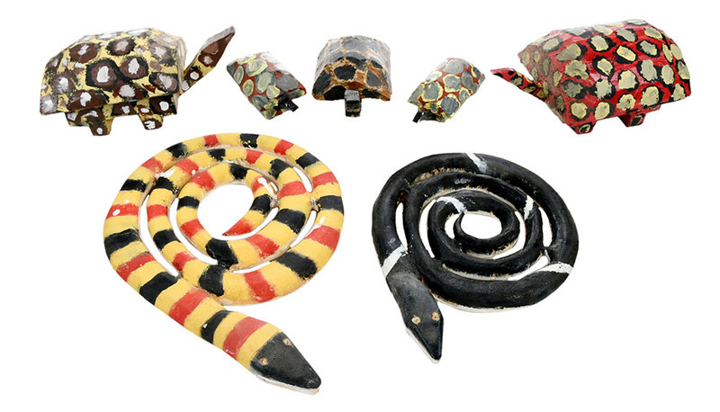 Seven Carved Folk Art Animals