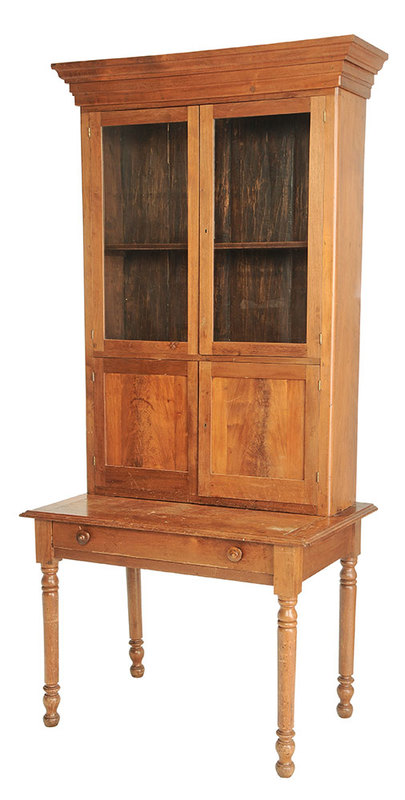 Kentucky Attributed Walnut Bookcase on Desk