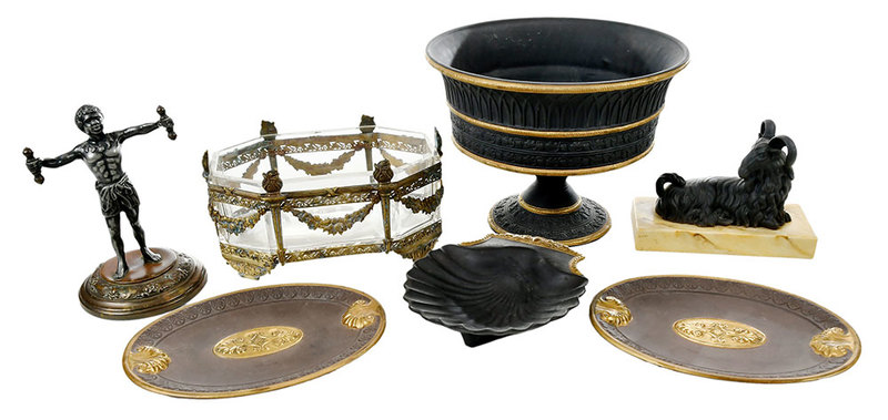 Seven Continental Table Items