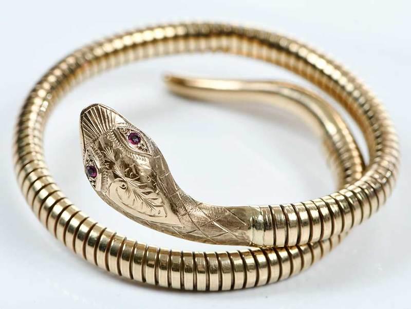 9kt. Gold Snake Bracelet