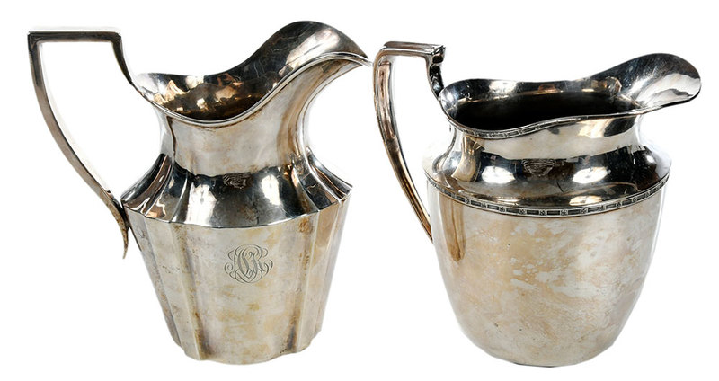 Sterling and Silver-Plate Pitchers