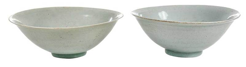 Pair of Early Chinese Porcelain Bowls