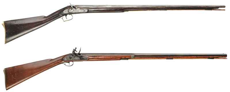 2 British Muskets: One Moore and Baker Percussion
