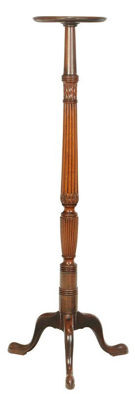 George III Carved Mahogany Urn Stand