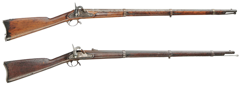 Two Percussion Muskets, Springfield, US New York