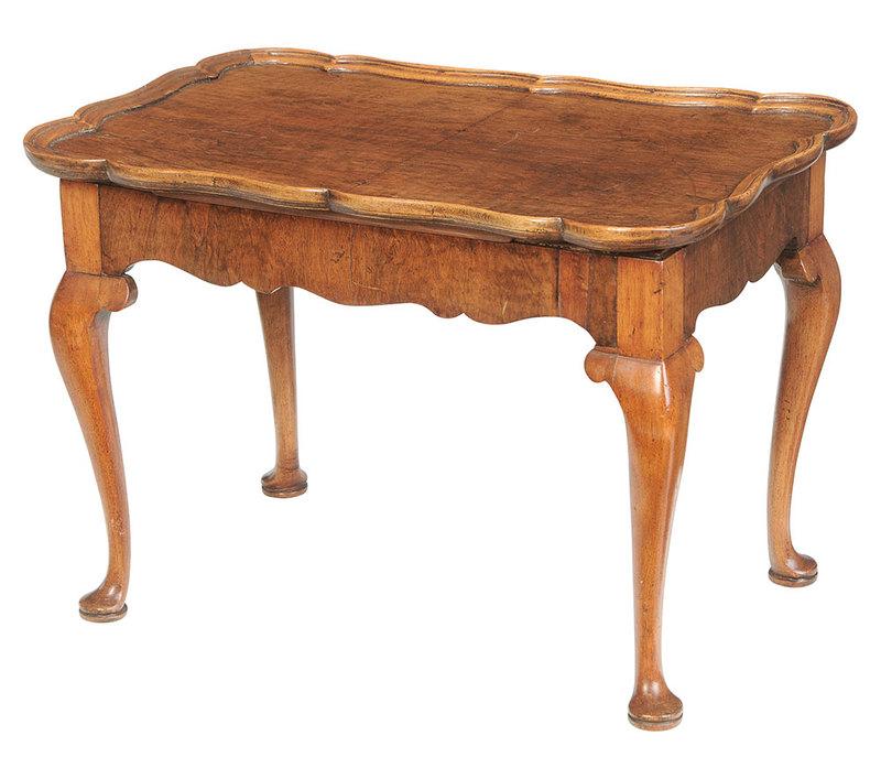 Queen Anne Style Walnut Low Table