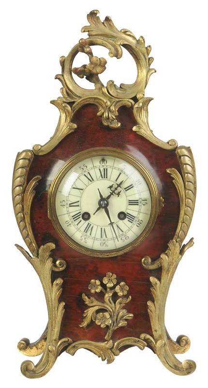 Vincenti & Cie. Louis XV Style Mantel Clock